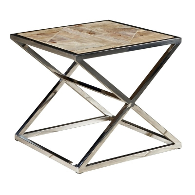 Furniture Classics Stainless Steel Cross Side Table