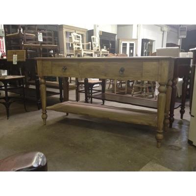 Furniture Classics Zinc Top Work Table