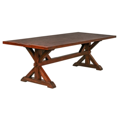 Furniture Classics 78046QC Cotswold Collection 9 Foot Trestle Dining Table Di