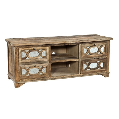 Furniture Classics Mirrored Media Cabinet