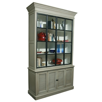 Furniture Classics Oak and Iron Cabinet