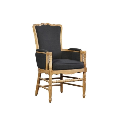 Furniture Classics Arm Chair with Gray Fabric Back