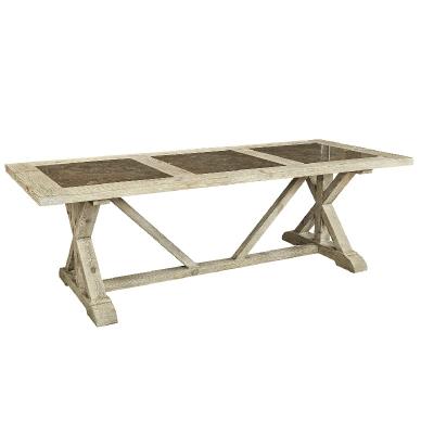 Furniture Classics Ashen Tri Stone Table