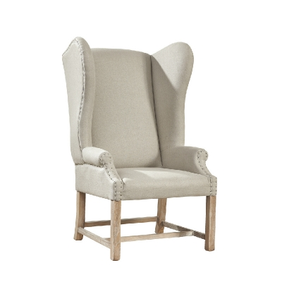Furniture Classics Linen Wingback Chair