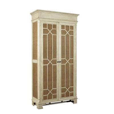 Furniture Classics Tall Burlap Cabinet