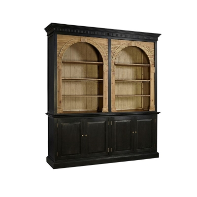 Furniture Classics Double Bookcase with Removeable Shelf Insert