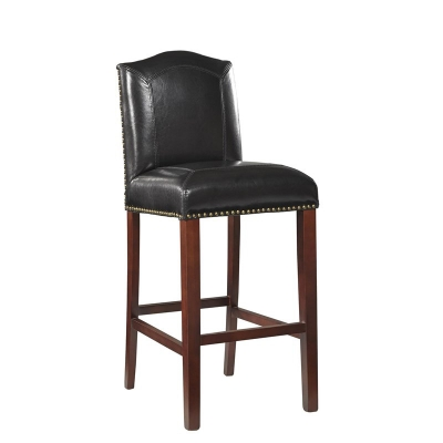 Furniture Classics Black Blake Leather Bar Stool