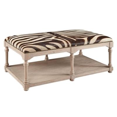 Furniture Classics Zebra Cocktail Ottoman