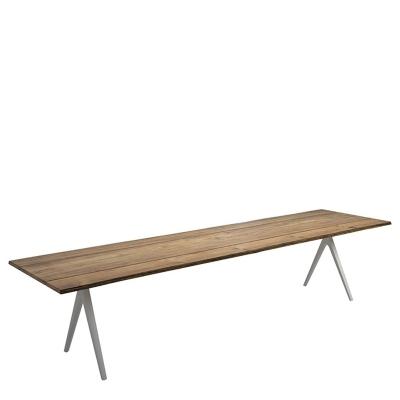 Gloster Split Dining Table Buffed Teak with Sapwood Edge