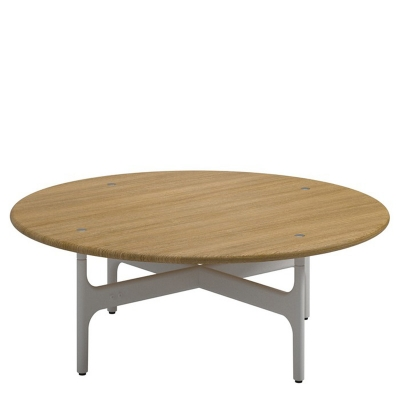 Gloster Round Coffee Table Teak Top