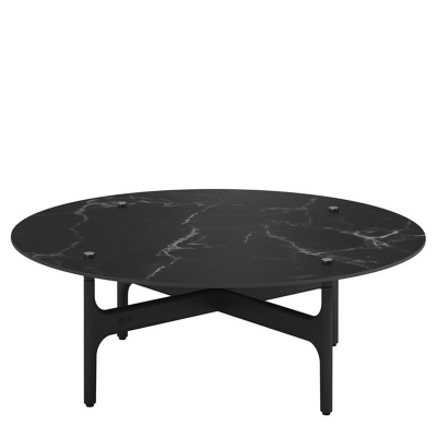 Gloster Round Coffee Table Nero Ceramic Top