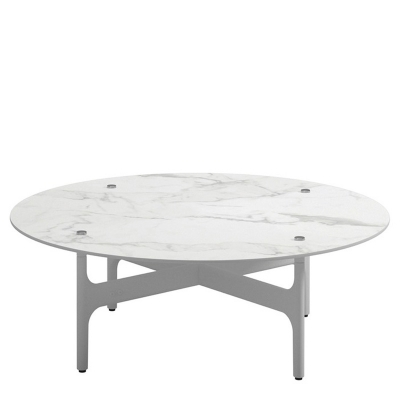 Gloster Round Coffee Table Bianco Ceramic Top