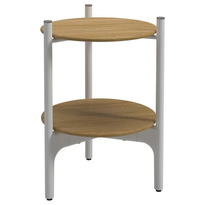 Gloster Round Side Table Teak Tops
