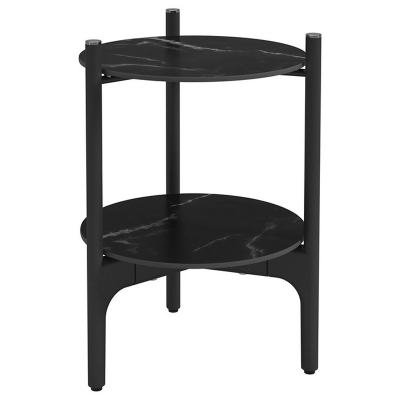 Gloster Round Side Table Nero Ceramic Tops