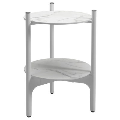 Gloster Round Side Table Bianco Ceramic Tops
