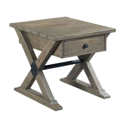 Hammary Trestle Drawer End Table