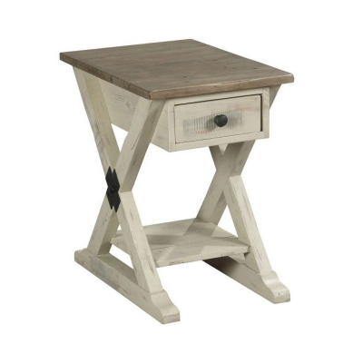 Hammary Trestle Chairside Table