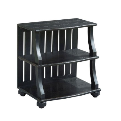Hammary Open Chairside Table black