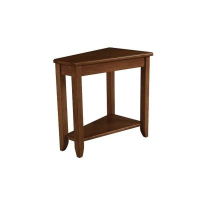Hammary Wedge Chairside Table oak