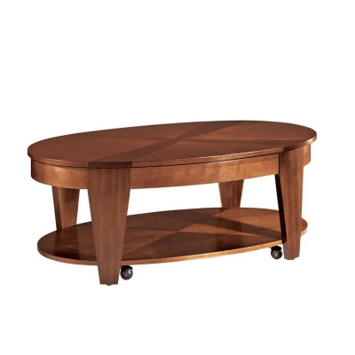 Hammary Oval Cocktail Table with Lift top