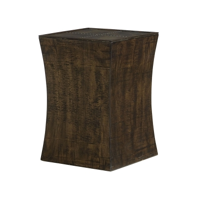 Hammary Concave Square Chairside Table