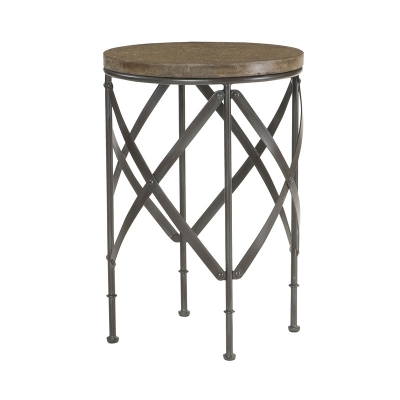Hammary 090 716 hidden treasures round metal table for Affordable furniture and treasures