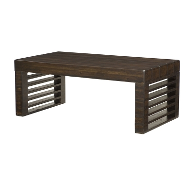 Hammary Stacked Wood Rectangular Cocktail Table Kd