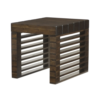 Hammary Stacked Wood Rectangular End Table Kd