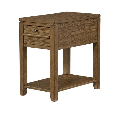 Hammary Chairside Table Oak Finish Kd
