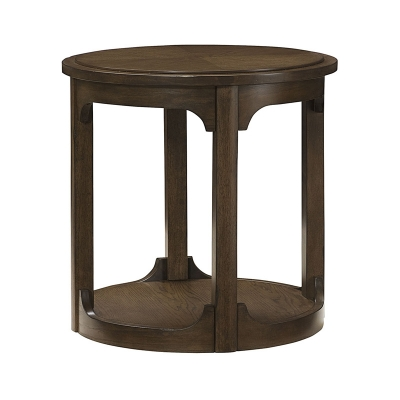 Hammary Round End Table Kd