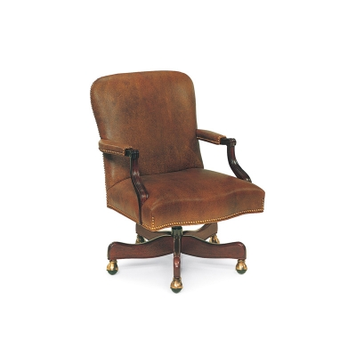 Hancock and Moore Swivel-Tilt Chair with Manual Lift