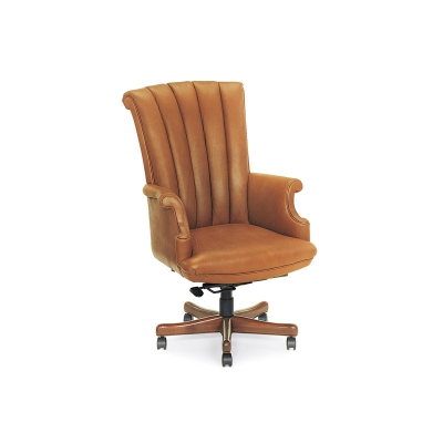 Hancock and Moore Channel Back Swivel-Tilt Pneumatic Lift Chair