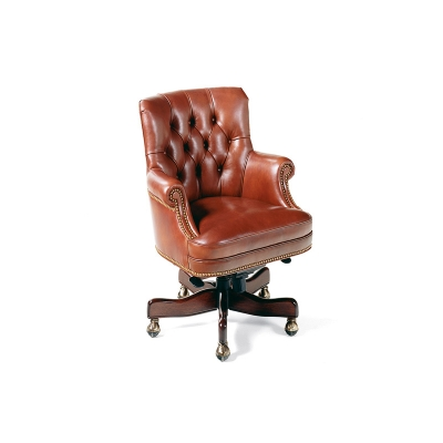 Hancock and Moore Tufted Swivel-Tilt Pneumatic Lift Chair