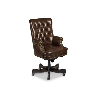 Hancock and Moore Tufted Swivel Tilt Pneumatic Lift Chair
