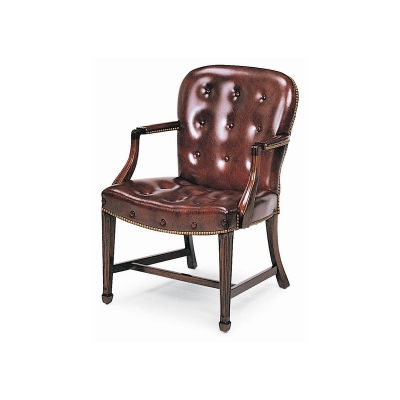 Hancock And Moore 8314 Georgetown Buttoned Side Chair Discount Furniture At Hickory Park