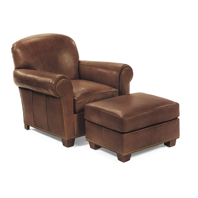 Hancock and moore 9761 9760 harbison chair ottoman for Affordable furniture in little rock ar