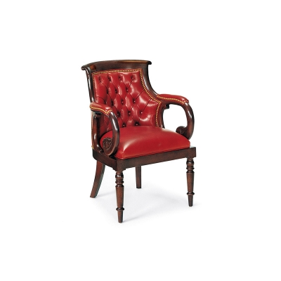Hancock and Moore Club Tufted Chair