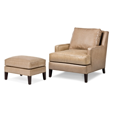 Hancock And Moore 5475 5474 Jordan Chair And Ottoman Discount Furniture At Hickory Park