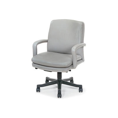 Hancock and Moore Low-Back Open Arm Swivel-Tilt Pneumatic Lift Chair