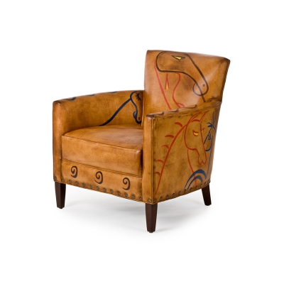 Hancock and Moore Ancient Thunder Horse Painting Chair
