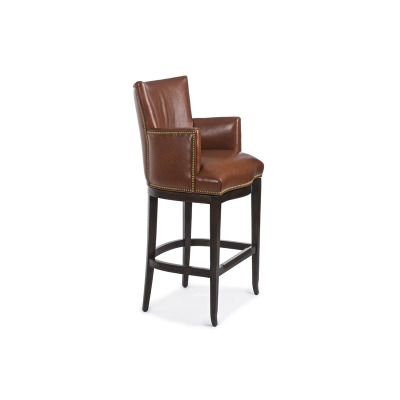 Hancock and Moore Station Swivel Barstool
