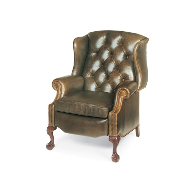 Hancock and Moore Tufted Wing Chair Power Recliner