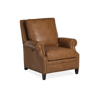 Hancock and Moore Power Tilt Back Chair and Ottoman