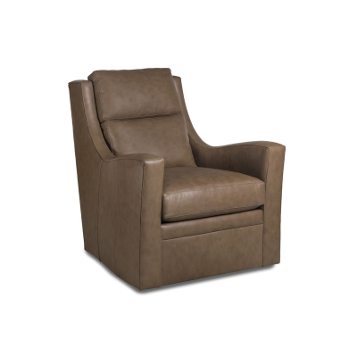 Hancock and Moore Leather Memory Swivel Chair