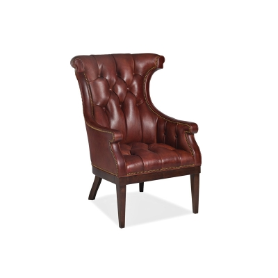 Hancock and Moore Tapered Leg Leather Chair