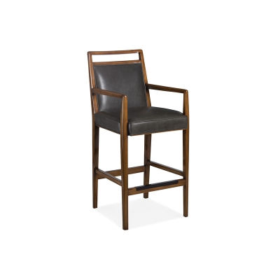 Hancock and Moore Leather Bar Stool