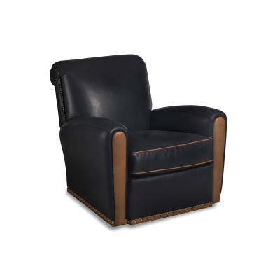Hancock and Moore Swivel Leather Chair