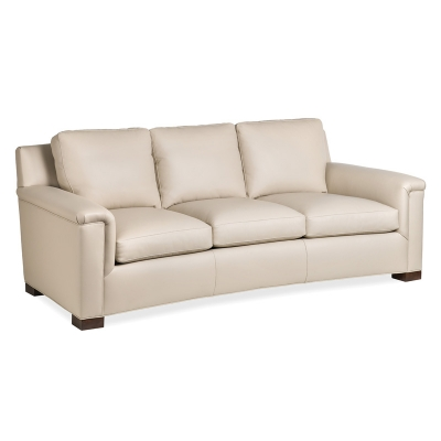 Hancock and Moore Leather Sofa with Wide Block Leg