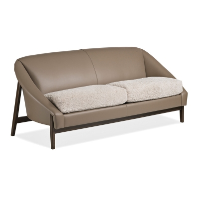 Hancock and Moore Crescent Leather Sofa