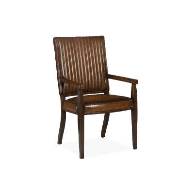 Hancock and Moore Channel Quilted Dining Arm Chair